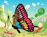 Dibujo Mariposa dirección izquierda pintado por LunaLunita