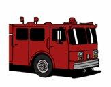 Dibujo Camión de bomberos pintado por kjdfshiudf