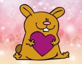Conejo con corazón