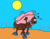 Dibujo Hormiga y cacahuete pintado por LunaLunita