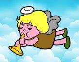 Ángel tocando la trompeta