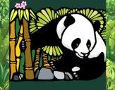 Dibujo Oso panda y bambú pintado por GaMzEe