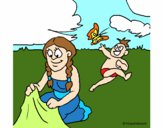 Madre e hijo mayas