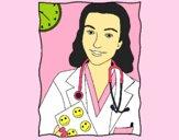 Dibujo Doctora sonriendo pintado por LunaLunita