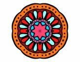 Dibujo Mandala mosaico pintado por AleAmaCD9