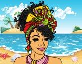 Dibujo Mujer africana pintado por LunaLunita