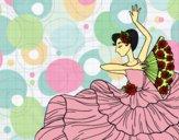 Dibujo Mujer flamenca pintado por LunaLunita