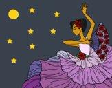 Dibujo Mujer flamenca pintado por queyla