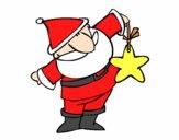 Papá Noel con una estrella