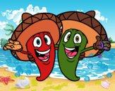 Pimientos mexicanos