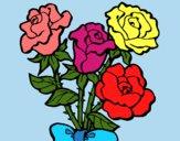 Dibujo Ramo de rosas pintado por LunaLunita