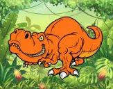 Dibujo Tyrannosaurus Rex pintado por meibol