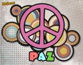 Dibujo Círculo de la paz pintado por sigg