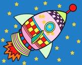 Dibujo Cohete espacial pintado por sergiomarc