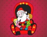 Santa Claus con niños