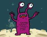 Extraterrestre con los ojos salidos