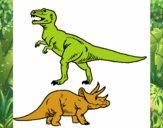 Triceratops y tiranosaurios rex