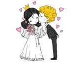 Boda de príncipe y princesa