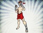 Dibujo Luchador de Muay Thai pintado por DeathLex