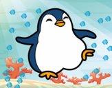 Dibujo Pingüino bailando pintado por VATOME