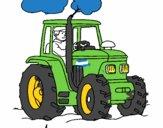 Tractor en funcionamiento