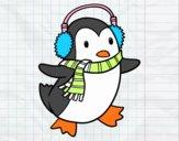 Pingüino con bufanda