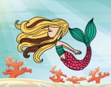 Sirena flotando