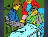 Niño con la pierna fracturada