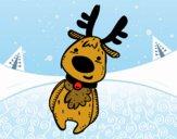 Dibujo Peluche Reno de Navidad pintado por starlimon
