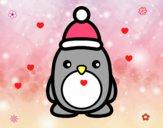 Pingüino navideño