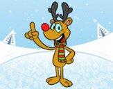 Dibujo Reno Rudolph pintado por soni_lops
