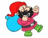 Santa Claus camina y saluda