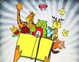 Dibujo Un cuento de animales pintado por mary333