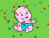 Dibujo Bebé curioso pintado por nickm