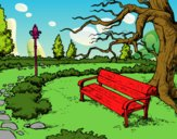 Dibujo Paisaje de parque pintado por isimar