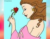 Dibujo Princesa con una rosa pintado por DiamondB