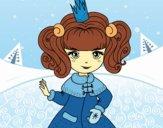 Dibujo Princesa del invierno pintado por amby