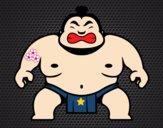 Dibujo Luchador japonés pintado por martanoemi