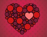 Corazón de círculos