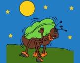 Dibujo Hormiga y cacahuete pintado por linda423