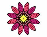 Dibujo Mandala flor con pétalos pintado por elenacc