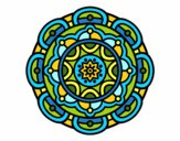 Dibujo Mandala para la relajación mental pintado por elenacc