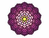 Dibujo Mandala pétalos de flor pintado por elenacc