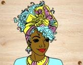 Dibujo Mujer africana pintado por Michellinh