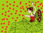 Dibujo Mujer flamenca pintado por lailazoe16