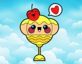 Dibujo Copa de helado kawaii pintado por Michellinh