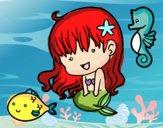 Dibujo Sirenita y sus amigos pintado por Eileen8989