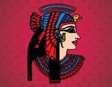 Dibujo Perfil de Cleopatra pintado por amalia
