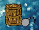 Dibujo Pólvora y bomba pirata pintado por amalia