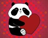 Dibujo Amor Panda pintado por danielalo